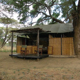 You can stay at the tiny Old Mondoro Camp…