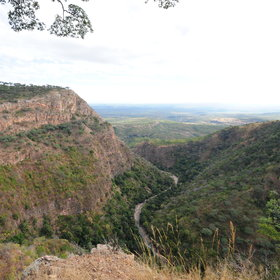 The Zambezi Escarpment runs through Chizarira, making for rocky and rugged terrain