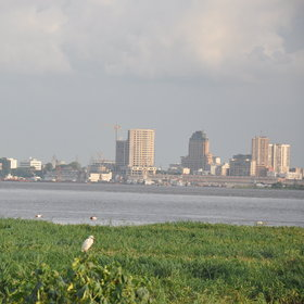Whilst on the opposite side of the Congo River, is the DRC's more chaotic capital - Kinshasa.