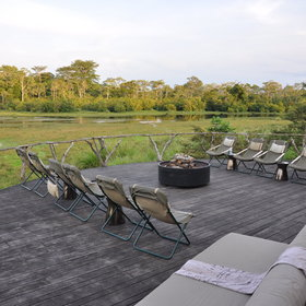 Though on arrival at Lango Camp, your second stop, you can relax on the deck.