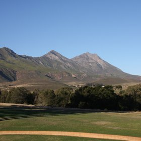The small town of Swellendam in South Africa lies at the foot of the Langeberg Mountains.
