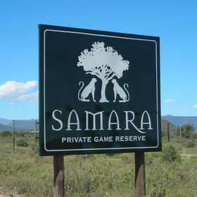 Samara Private Game Reserve in South Africa stretches on the plains of Great Karoo ...
