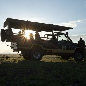 Wildlife-viewing and bird-watching in Amboseli National Park is usually conducted in a 4x4…