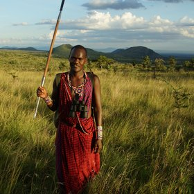 … and your guide will often be a well-qualified Maasai warrior-turned-naturalist