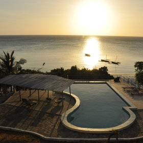Manta Resort in the north of the island is a remote beach lodge with fantastic views...