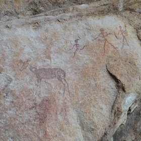 ...fascinating ancient rock art thought to be created by the San people.