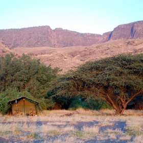 The permanent safari camps provide a great base to explore the area