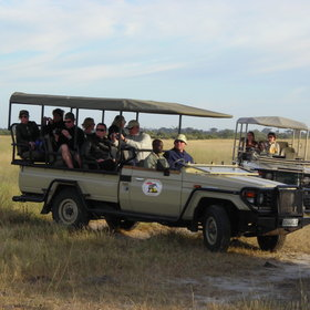 Game drives are carried out in open-sided 4WD vehicles - blankets are provided at night!
