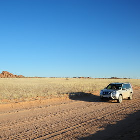 ...has been driving around Namibia...
