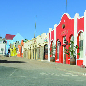 Meanwhile in Luderitz, this is a typical town road...