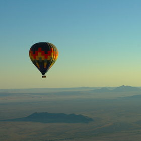 Ballooning in the Namib Desert