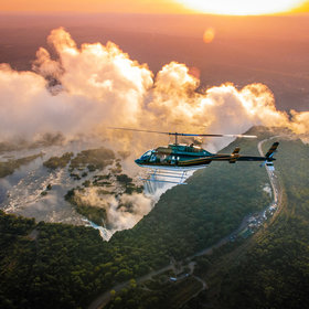 Helicopter Flight - Zimbabwe