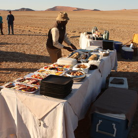 ...to enjoy your Champagne breakfast amongst the dunes.