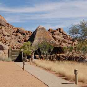 Namib Naukluft Lodge's main area...