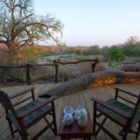 …to relax on safari chairs by the sound of the Shire River flowing by…