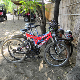 … cycling, a great way to explore the island …