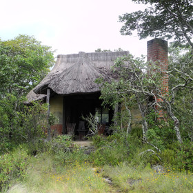 The four rustic chalets…