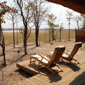 ... and a private veranda allows you to game-view from your tent.