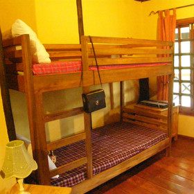 Two are family rooms with either bunk beds ....