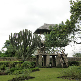The viewing platform overlooking Arusha wildlife park is also a great place to relax.