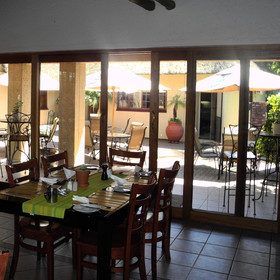 Breakfast can be enjoyed in the dining room or on the patio....