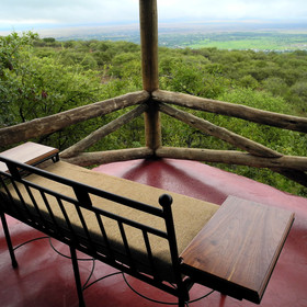 ... from which to enjoy stunning views over the valley and the surrounding bush.