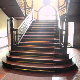 … leads into a large lobby with grand staircase …