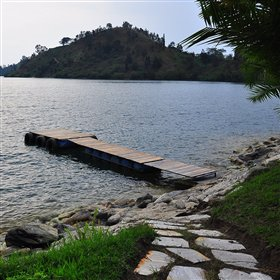 Swimming can be done from the small jetty nearby.