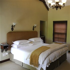 Inside, the rooms are very comfortable with double beds...