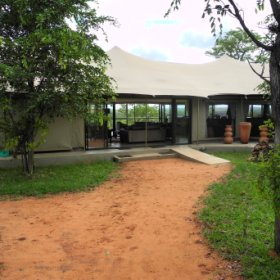 The Elephant Camp is situated a 15 minute drive from Victoria Falls town and the waterfall itself