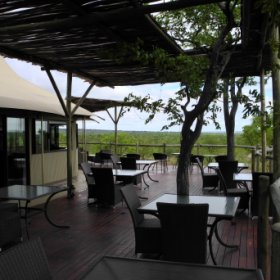 The main area has a large wooden deck where meals and sundowners can be enjoyed