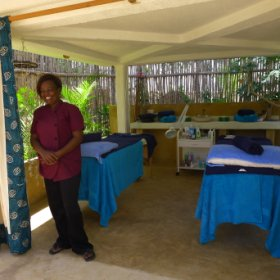 The Tulia (Swahii for relax and enjoy) spa offers massages and beauty treatments.