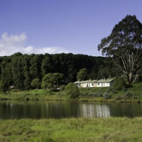 Chelinda Camp is built overlooking a large trout dam on the Nyika Plateau.