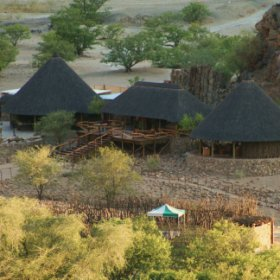 Khowarib Lodge is situated on the banks of the Hoanib River in north west Namibia.
