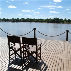 Nkwali Camp overlooks the Luangwa River across from South Luangwa National Park.