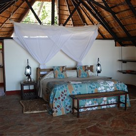 Though maintaining a rustic feel, each room is spacious and comfortable.