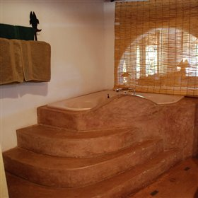 The honeymoon suites also include a large, elevated bath.