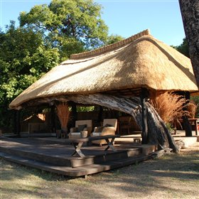 Mchenja Bushcamp overlooks the Luangwa River.