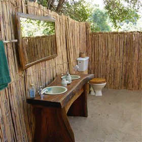 Each chalet has an en suite bathroom opened to the skies.