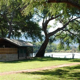 The eight chalets at Chongwe River Camp all have great views...