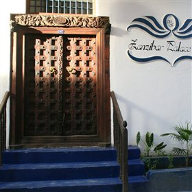 Its main door has been restored to typical Zanzibari-style - heavy and ornate.