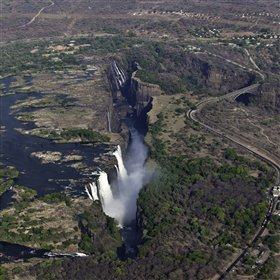 ...view the Falls from above on a scenic flight...