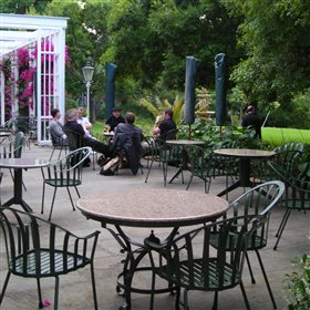 Afternoon tea or evening drinks can be enjoyed outside on the terrace.