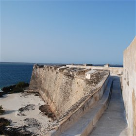 ...the imposing Fort Sao Sebastiao...