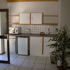…and some rooms also have a small kitchenette.