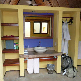 Each chalet has an en-suite bathroom...