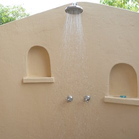 ...and outside shower.