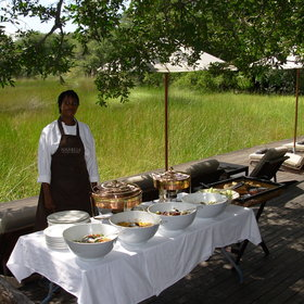 Nxabega prides itself on delicious, well presented meals.