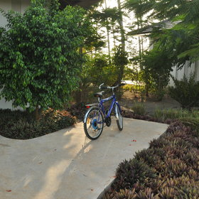 Each villa has its own bikes for getting around this large resort.