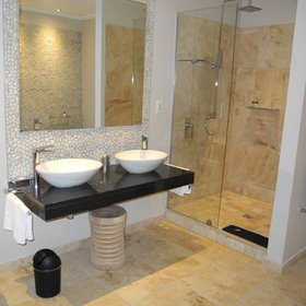 The bathrooms all vary in size but each has a separate shower and bath ...